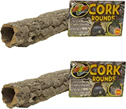 Cork Bark Round for Terrarium [Set of 2] Size: Small (2' H x 10' W x 10' L)