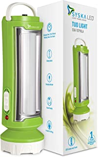 Syska T0790LA Tuo Portable Rechargeable Led Lamp Cum Torch with 4hrs Backup (Green-White)