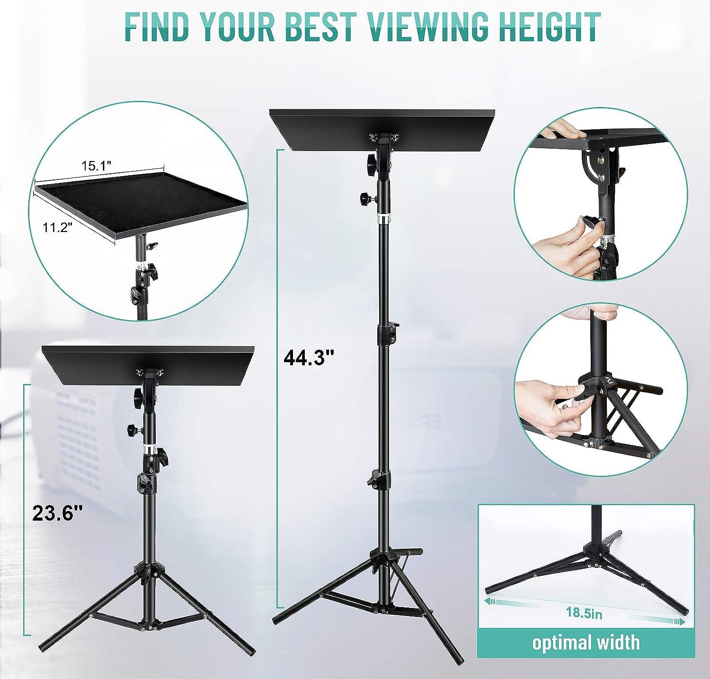 Buy Laptop Projector Tripod Stand, Universal Adjustable Laptop ...