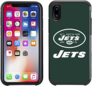 Prime Brands Group Cell Phone Case for Apple iPhone X - NFL Licensed New York Jets Textured Solid Color