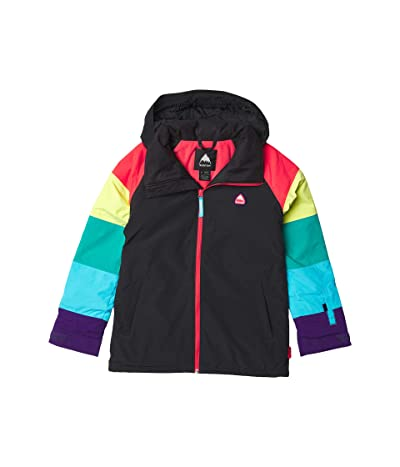 Burton Kids Girls Hart Jacket (Little Kids/Big Kids) (True Black/Rainbow) Girl
