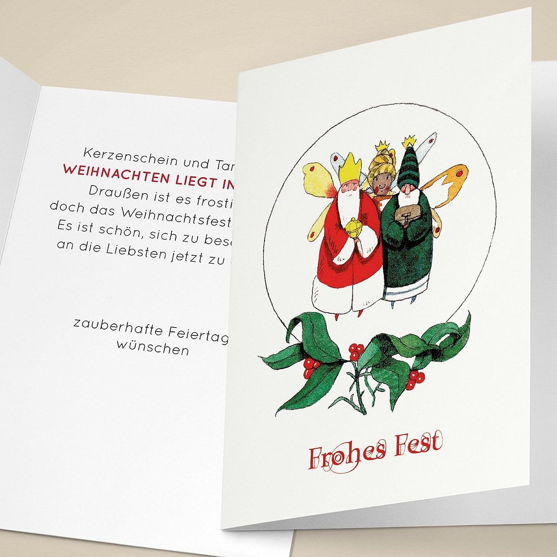 100er Set Edle Unternehmen Weihnachtskarten mit hand-gemalten hand-gemalten hand-gemalten heiligen drei Königen, mit ihrem Innentext (Var9) drucken lassen, als Weihnachtsgrüße geschäftlich   Neujahrskarte   Firmen Weihnachtskarte für Kunden, Geschäftsp 0e0329