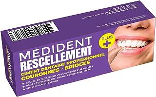 CIMENT DENTAIRE MEDIDENT RESCELLEMENT PLUS © POUR RESCELLER COURONNES OU BRIDGES-Adhérence renforcée