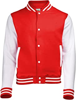 Kid's Varsity Jacket COLOUR Fire Red/White
