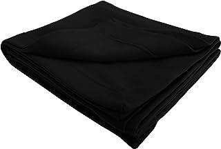 Gildanドライブレンドあたたか無地フリースブランケット毛布/ひざ掛け (ワンサイズ) (ブラック)