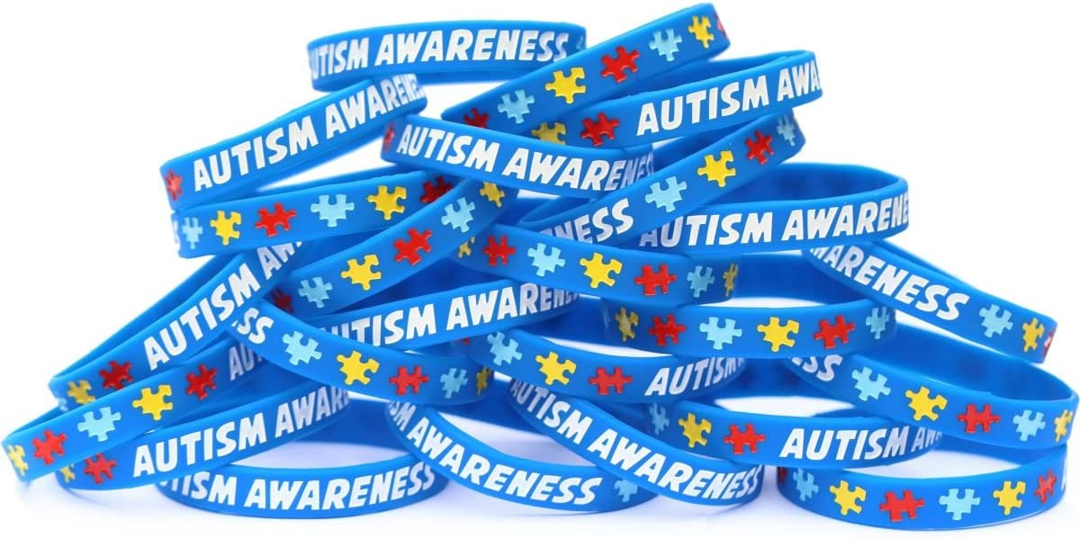 Autism Awareness Wristband Set supreme - Choose 1 Max 54% OFF Bands to 100