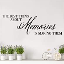 The Best Thing About Memories is Making Them Vinyl Lettering Wall Decal (Black, 10
