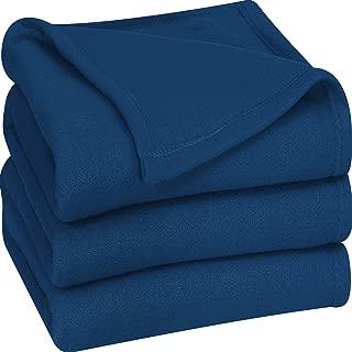 Utopia Bedding Fleece Blanket Queen Size Navy Soft Warm Bed Blanket Plush Blanket Microfiber