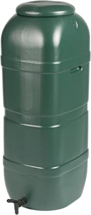 Strata Products Ltd GN334 Ward 100L Slimline Water Butt including Tap and Lockable Lid - Green