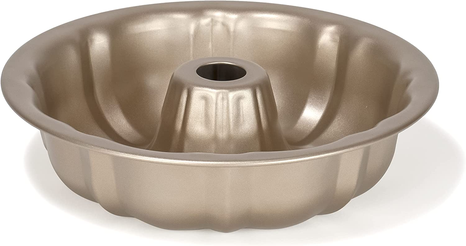 Non-Stick Original Cake Fluted Tube Pan Silver Finish in Max 70% OFF Baking Brand new