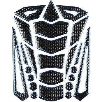 Silver Geshiglobal 3D Gas Fuel Tank Pad Protector Motorcycle Sticker Decal for Honda Yamaha Suzuki