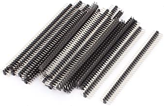 uxcell 24 Pcs 40 Pin 2mm Pitch Double Row Straight Header Connector Strip Bar