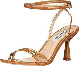 Steve Madden Women's Kyrah Heeled Sandal, Camel Patent, 6