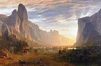 looking down yosemite valley by albert bierstadt 1865