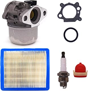 FitBest New Carburetor 799868 with Air Filter Spark Plug replaces Briggs & Stratton 498170 497586 498254 497314 497347