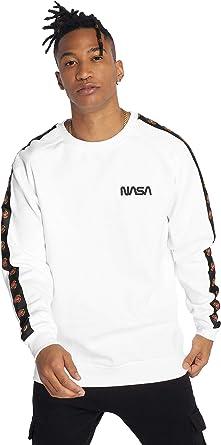 TALLA XL. Mister Tee NASA S Wormlogo Emb Rocket Tape Crewneck Sudadera para Hombre