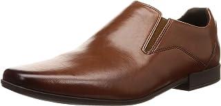 Clarks Glement Slip Casual & Dress Shoe For Men Brown Size 43 EU (91261348187090_British Tan Lea_9)