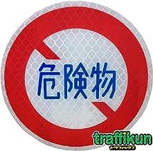 【大蔵製作所】本物と同素材、同デザインのミニチュア道路標識 標識板のみ (危険物通行止)