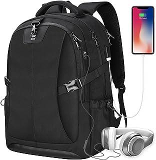 NEWHEY Mochila para portatil con USB Puerto de Carga Daypack Compartimiento 17 Pulgada Laptop Mochilas para antirrobo Impe...