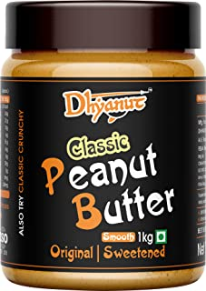 Dhyanut Classic Peanut Butter Smooth   Made with Roasted Peanuts   1 Kg