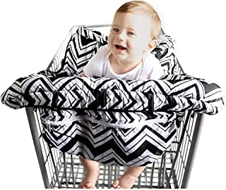 Shopping Cart Cover, Restaurant High Chair Cover Shopping Trolley Cover for Baby Toddler 2 in 1 Highchair Cover Universal Size Machine Washable. (Chevron)