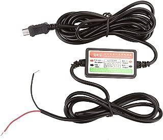 GraceMe Dash Cam Hard Cable Hidden Wiring 5V 2.1A Mini USB Car Charger Power Supply Adapter Inverter Converter DC 12V 24V to DC 5V (Mini USB)