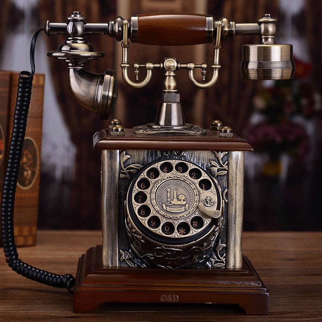 SXRDZ Retro New item Telephone Landline Home Finally resale start Decorative Living Resin Room