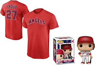 Outerstuff Mike Trout Los Angeles Angels of Anaheim #27 Youth Player T-Shirt with Trout Figure