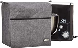 HOMEST Stand Mixer Dust Cover with Accessory Pockets Compatible with Hamilton Beach 3.5 Quart Stand Mixer 63326, 63325, Grey (Patent Pending)