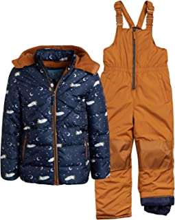 Little Boys' 2-Piece Heavyweight Snowsuit with Puffer Jacket and Snow Bib Pants (Infants, Toddler & Little Boys)