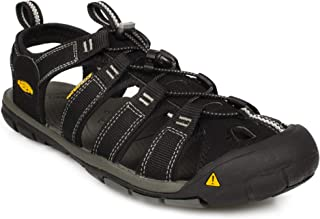 KEEN Men's Clearwater CNX Sandal,Black/Gargoyle,9.5 M US