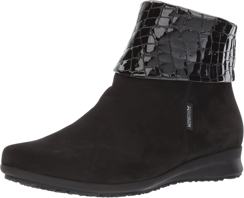 Mephisto Women's Fiducia Ankle Bootie, Black