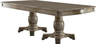 ACME Furniture Chateau de Ville Doulbe Pedestal Dining Table, Antique White