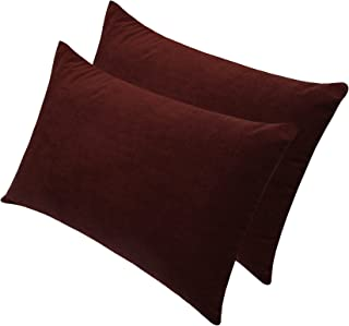 "Glassiano Waterproof Pillow Protector Set of 2, Coffee, Size 18""x28"" inch"
