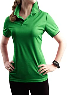Womens Active & Solid Polo Short Sleeve Button Polo Shirt with Plus Size