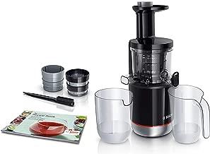 Bosch Slow Juicer MESM731M VitaExtract - Extractor de jugos, 150 W, 3 filtros, 50 RPM, con tecnología de prensado lento, con función antigoteo y funcionamiento silencioso, color negro