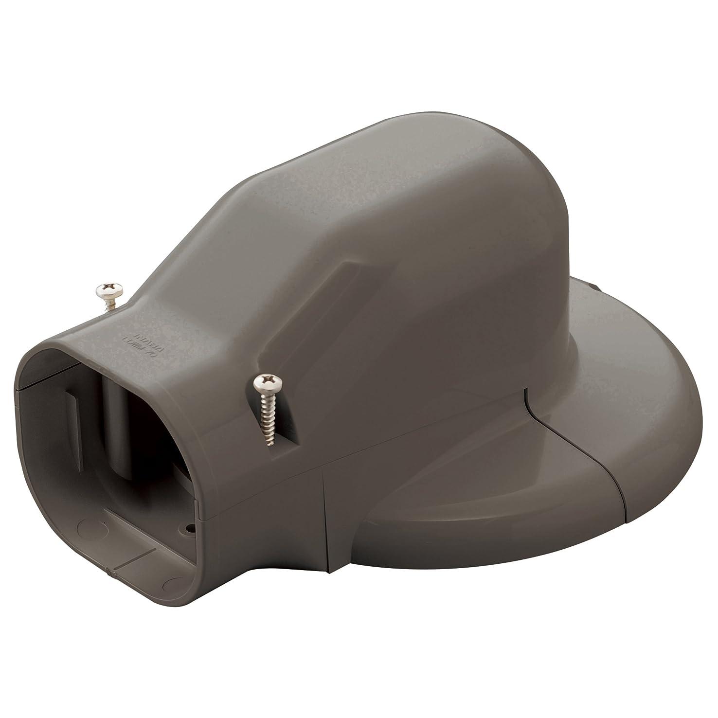 格差ペダル人類因幡電工 配管化粧カバー ウォールコーナーエアコンキャップ用 壁面取り出し ブラウン LDWM-70-B
