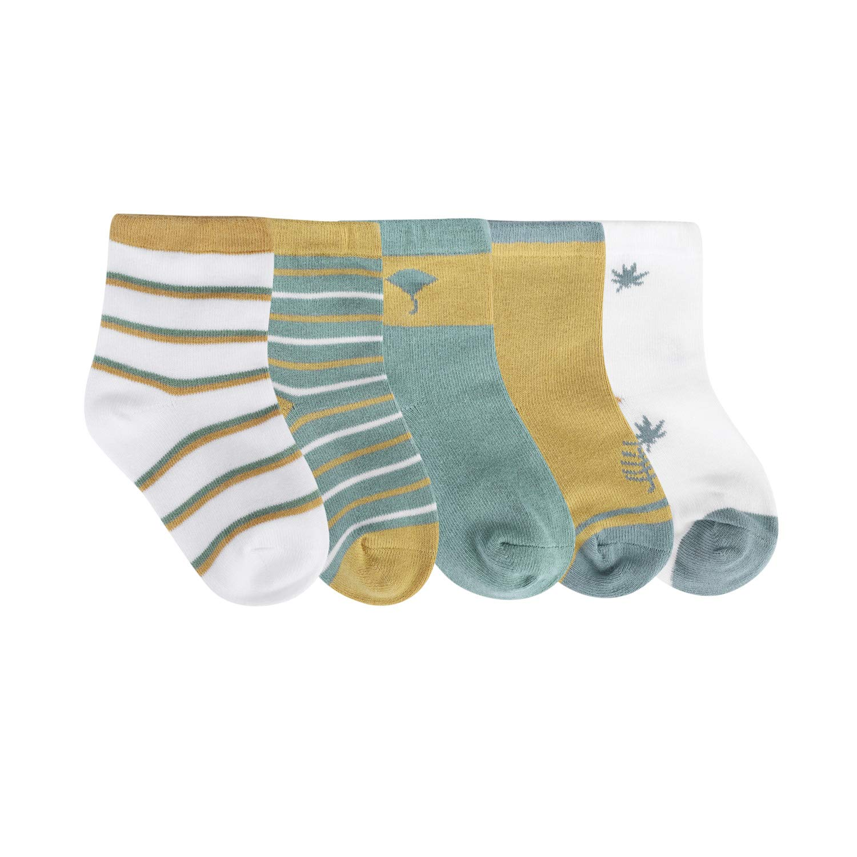 5Pairs Unisex Baby Socks Cotton Toddler Socks Spring and Autumn Newborn Comfort Kids Socks Infant Socks Mid Cut Socks 1-3Y