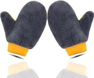 Geavanceerde autowashandschoenen, 2 stuks microvezel autowashandschoenen, beauty-autowashandschoenen, autoreinigingsgereed...