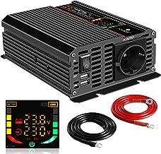 Lasamot Inverter di Potenza Convertitore di Potenza per Veicoli Onda sinusoidale modificata Universale 1000W DC 12V a 220V AC