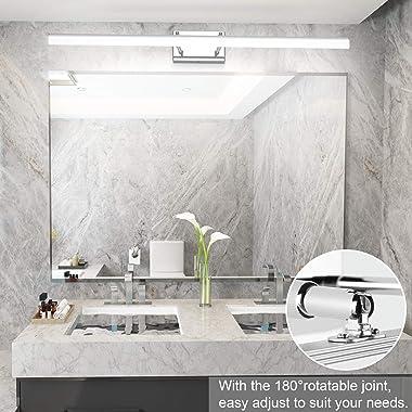 Aipsun 40 inch Modern LED Vanity Lights Adjustable Bathroom Light Fixtures Over Mirror Chrome Vanity Lighting 5500K