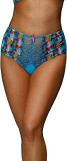 Nessa P2 Women's Valerie Blue Motif Knickers Panty Full Brief