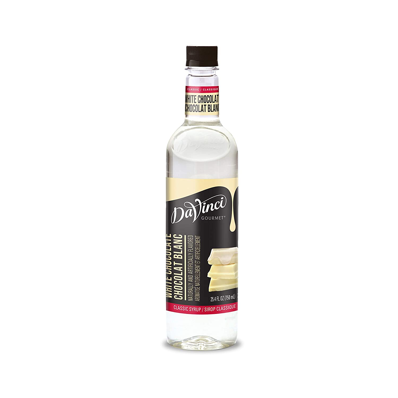DaVinci Gourmet Classic White Chocolate Syrup, 25.4 Fl Oz (Pack of 4)