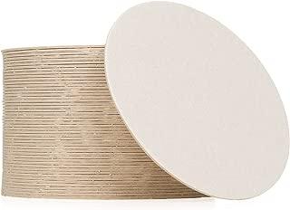 Plain White Coasters 3 1/2 Inches (50, Round)