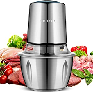 Electric Food Chopper, MOSAIC 400W Food Processor with 4 Titanium Coating Blades and 5-Cup Stainless Steel Bowl, 2 Speed Kitchen Meat Grinder and Mincer for Fruit Cheese and Nuts