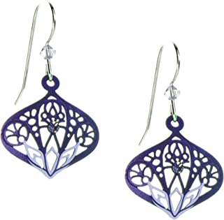 Earrings: Tanzanite & Purple Moorish Filigree 7706