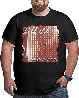 KennedyF Mens Bush Sixteen Stone Big Size Classic T-Shirt Black