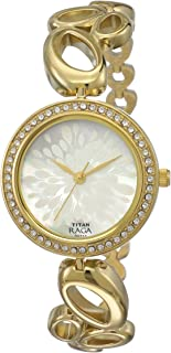 Titan Raga Swarovski Crystal, Mother of Pearl Dial, Gold/Silver/Brass Metal, Jewellery Design, Bracelet Style, Designer, Q...