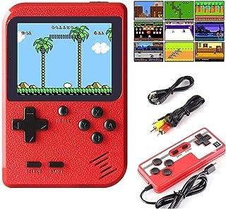 Efinger Console De Jeux Portable, Console De Jeu Retro FC avec 400 Jeux Classiques, pour 2 Joueurs Meuble TV Consoles de J...