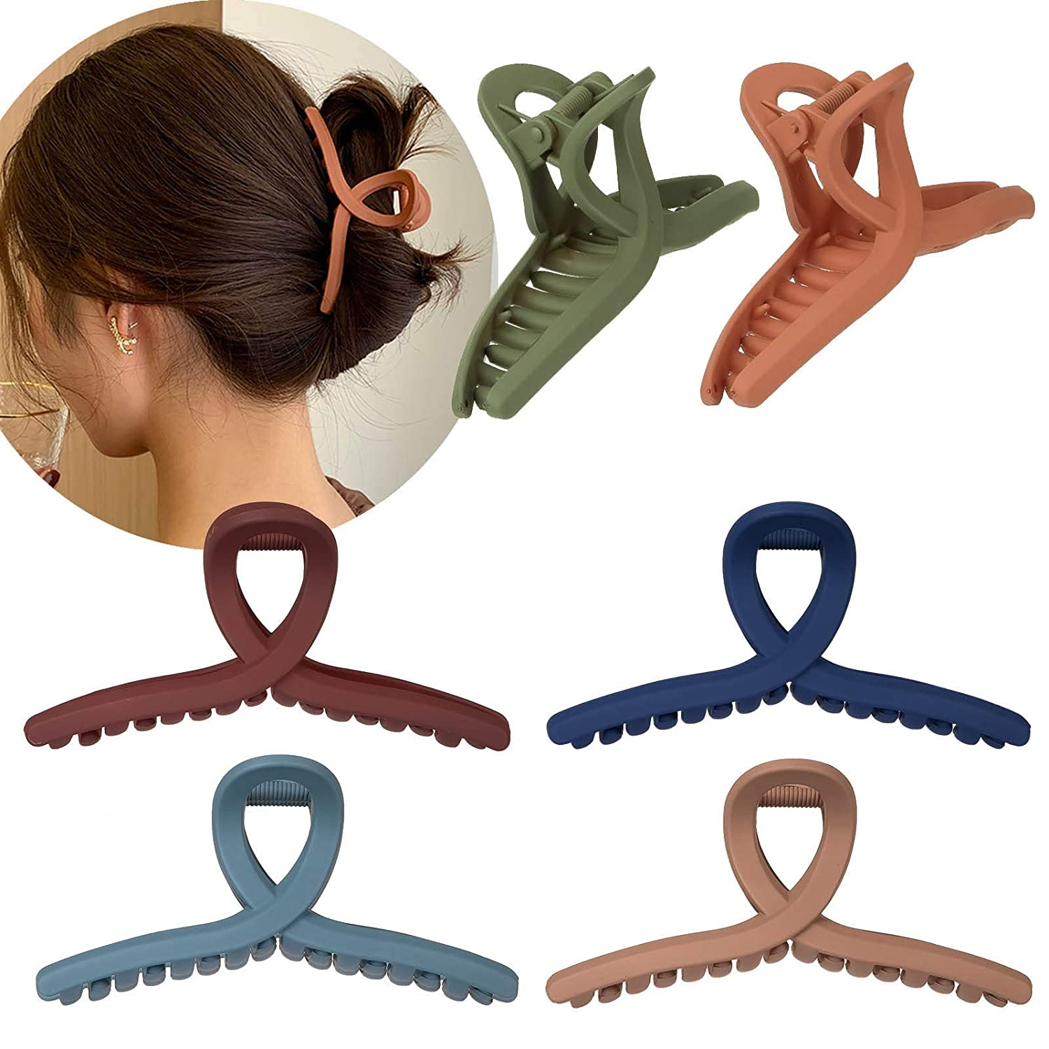 Whaline Hair Claw Clip 6 Color Clamp Inch Non Max 70% OFF Clips Brand Cheap Sale Venue Jaw 4.3